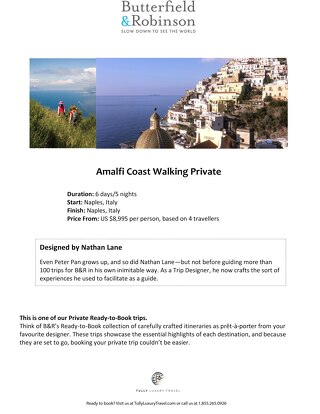 Butterfield & Robinson: Amalfi Coast Walking Tour