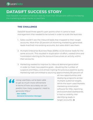 LeanData: DataSift Case Study