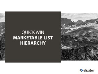 Quick Win Marketable List Hierarchy