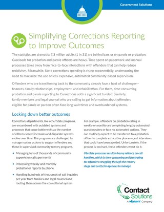 Simplifying Corrections Reporting to Improve Outcomes