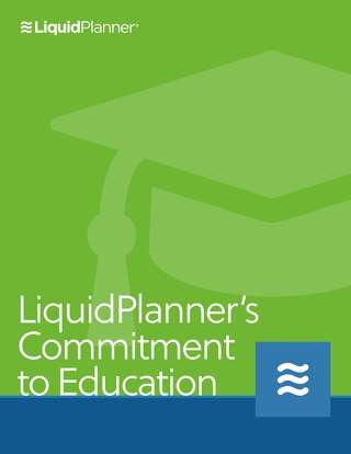 LiquidPlanner Commitment to Education