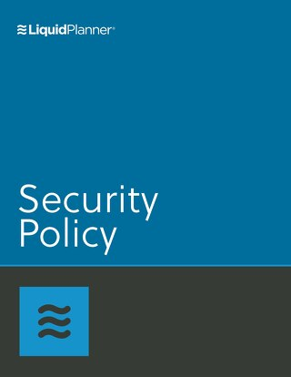 LiquidPlanner Security Policy
