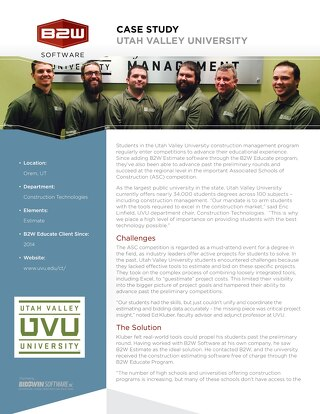 Utah Valley University Case Study