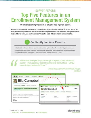 Top 5 Features in an Enrollment Management System