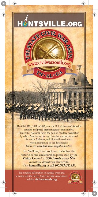 Huntsville Civil War Rack Card