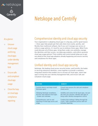 Netskope and Centrify