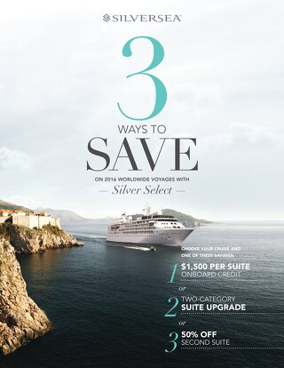 Silversea's Silver Select Promotion