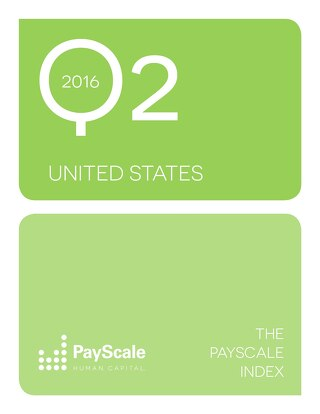 PayScale Index US, Q2 2016