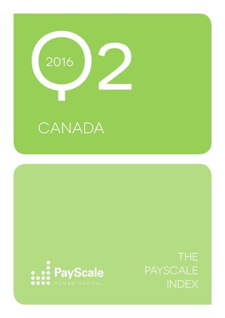 PayScale Index Canada, 2016 Q2