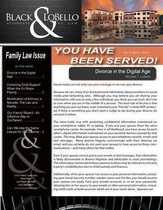 """You Have Been Served!"" Family Law Edition - July 2016"