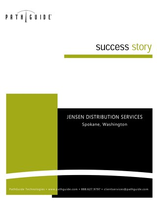 Redefining Productivity - Jensen Distribution Services