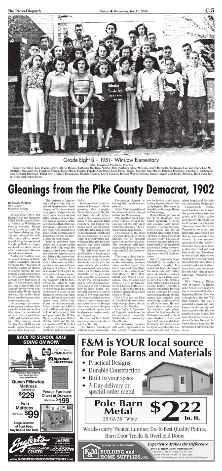 The Press-Dispatch - July 13, 2016