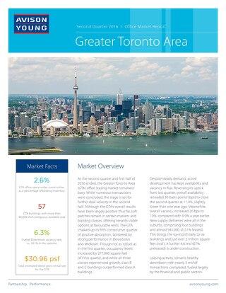 GTA Office Market Report Q2 2016