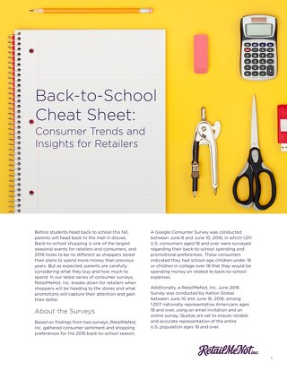 Back-to-School Cheat Sheet: Consumer Trends and Insights for Retailers