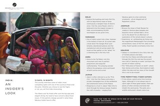 Bespoke Experiences - India (Sample Itinerary)