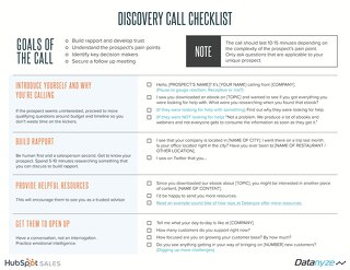 [Cheat Sheet] The Ultimate Sales Development Discovery Call Checklist