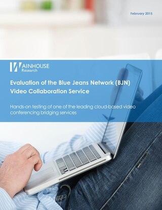 Wainhouse Evaluation of BlueJeans
