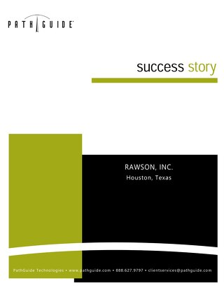 Lessons Learned - Rawson, Inc.