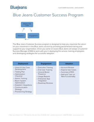 BlueJeans Customer Success