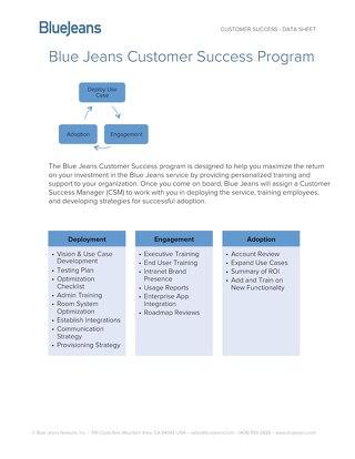 BlueJeans Customer Success
