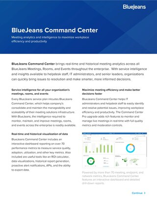 BlueJeans Command Center