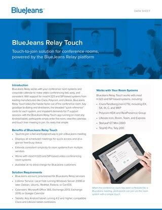 BlueJeans Relay Touch