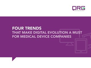 eBook: Four Trends that Make Digital Evolution a Must for Medical Device Companies