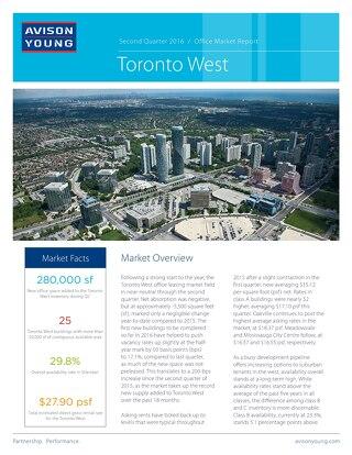 TorontoWestOfficeMarketReport-Q2-2016