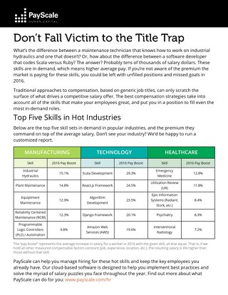 Hot Skills Report - When to Pay More