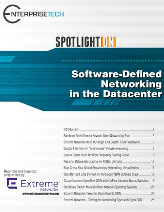 SpotlightON Software Defined Networking in the Datacenter