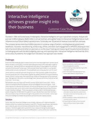 Interactive Intelligence Case Study