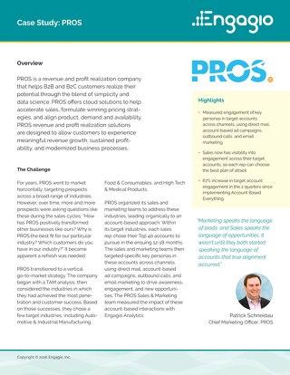 Case Study: PROS