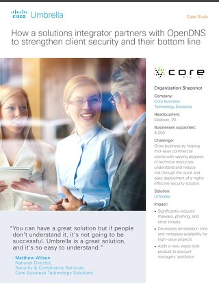 Core BTS Partners with Cisco Umbrella to Strengthen Client Security