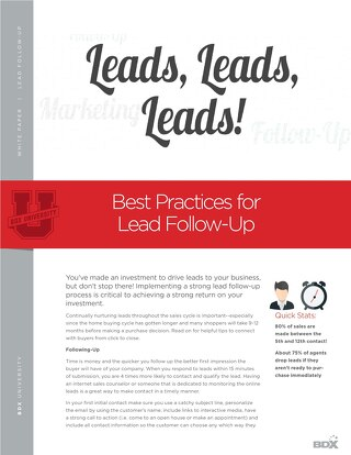 Best Practices For Lead Follow-Up