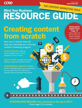 Mind Your Business August 2016 Resource Guide