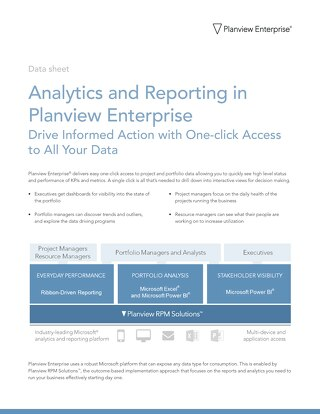 Planview Enterprise Analytics and Reporting
