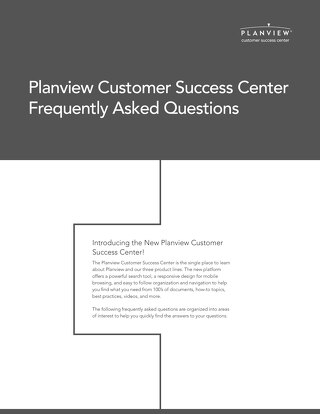 Planview Customer Success Center FAQ