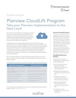 Planview CloudLift Program