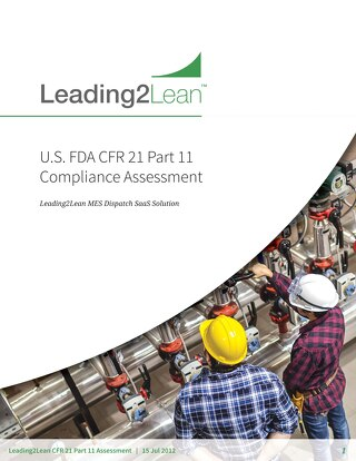 U.S. FDA CFR Compliance Assessment