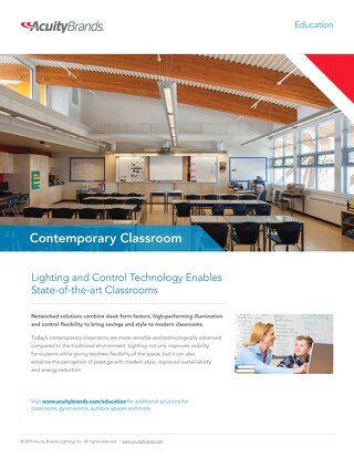 Lighting and Control Technology Enables State-of-the-Art Contemporary Classrooms
