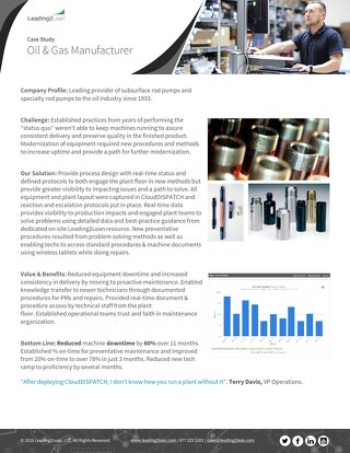 Oil and Gas Manufacturer Case Study