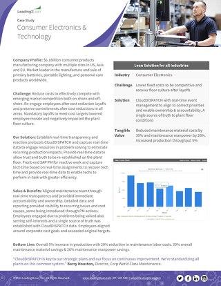 Consumer Electronics & Technology Case Study