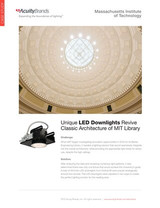 MIT Library: Unique LED Downlights Revive Classic Architecture