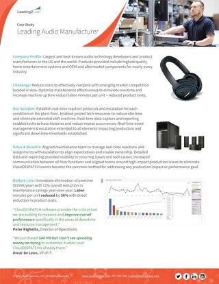 Leading Audio Manufacturer Case Study