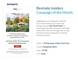 Insiders Campaign of the Month: Park South Hotel