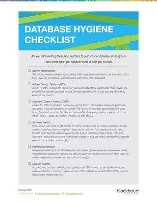 End of Year Data Hygiene Checklist