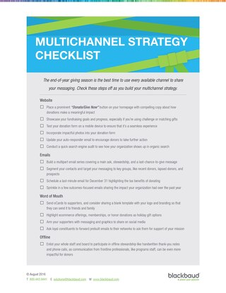 End of Year Multichannel Checklist