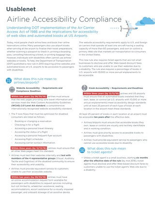 Airline Accessibility Compliance Factsheet