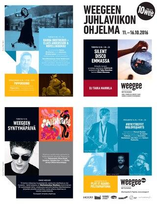 Weegee 10-vuotisjuhlaohjelma