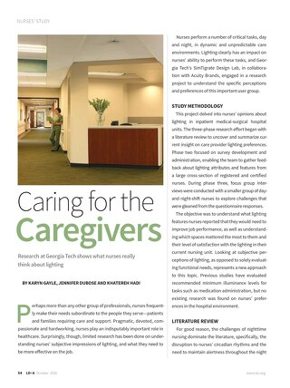 LD+A Article: Caring for the Caregivers